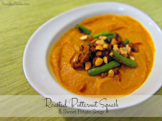 Roasted Butternut Squash & Sweet Potato Soup | Barr & Table