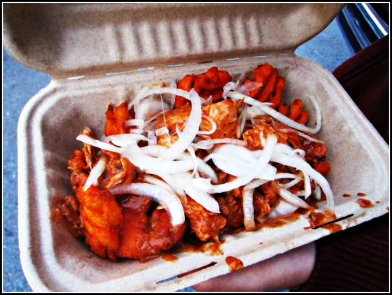 Curry Up Now Sexy Fries Off the Grid Food Truck Gathering Fort Mason San Francisco California SF CA