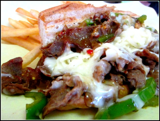 HRD Coffee Shop Mongolian Beef Cheesesteak