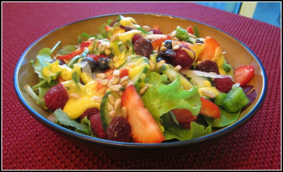 Summer Salad with Peach Mango Dressing