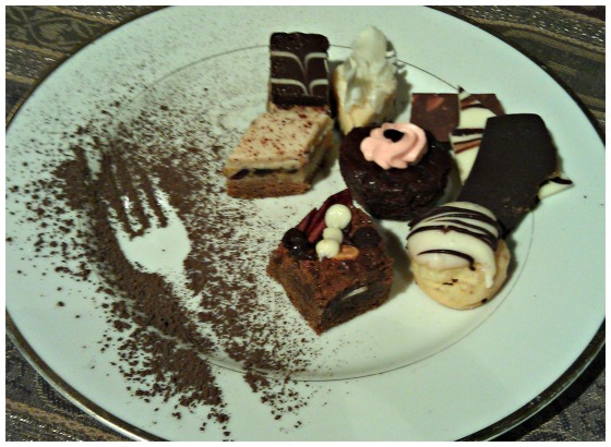 Barr & Table Innovative Gourmet Caterer Baltimore Maryland MD Desserts Petit Fours Chocolate Dark Chocolate Milk Chocolate White Chocolate