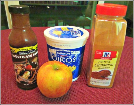 Barr & Table Apple Pie Parfait Walden Chocolate Syrup Cinnamon Oikos Vanilla Greek Yogurt