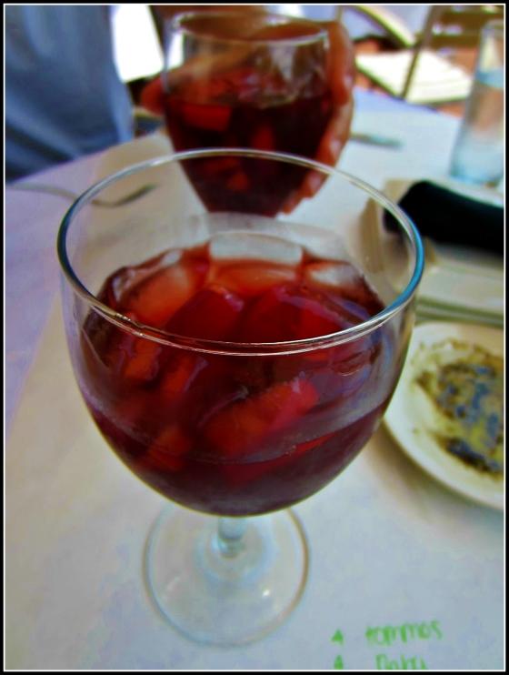 Barr & Table Lebanese Taverna Sunday Brunch Red Wine Sangria Apples Plums