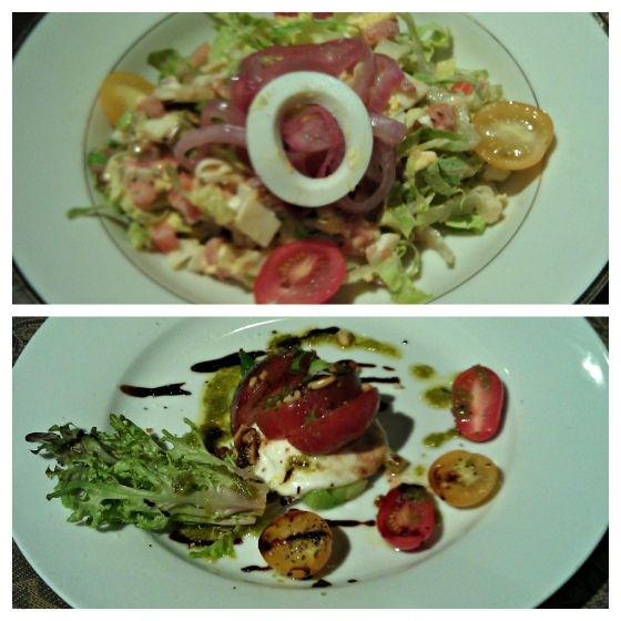 Barr & Table Innovative Gourmet Caterer Baltimore Maryland MD Chop Salad Heirloom Tomato Buffalo Mozzarella Asparagus Frisee Balsamic Reduction