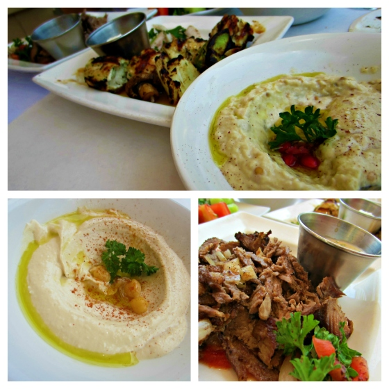 Barr & Table Lebanese Taverna Sunday Brunch Hummus Baba Ganoush Chicken Kabob Beef & Lamb Shwarma Cucumber Tomato Salad