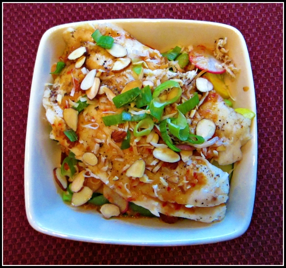 Barr & Table Tilapia Stir-Fry with Chili Peanut PB2 Sauce