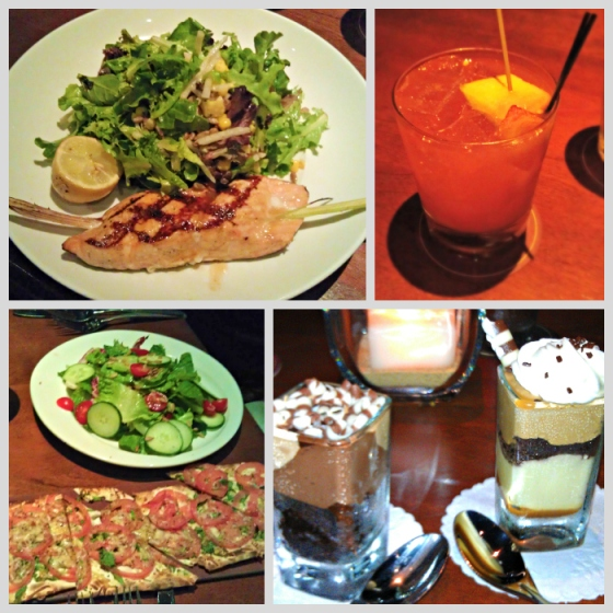 Barr & Table Seasons 52 Restaurant Salmon Salad Jicama Watermelon Refresher Flatbread Pizza Chocolate Peanut Butter Mousse Mocha Macchiato