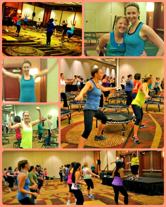 Erin Kreitz Shirey Bootcamp JumpSport Fitness Trampoline BOUNCEcamp ZUMBA Workout FitBloggin 2012 Baltimore Maryland MD