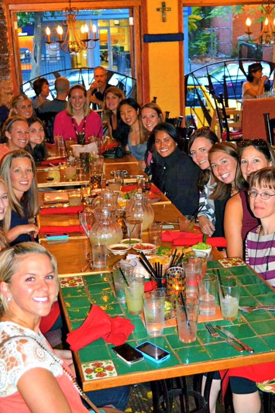 FitBloggin Baltimore Maryland MD Blue Agave Blogger Dinner Gathering