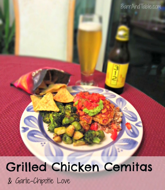 Citrus Chicken Garlic-Chipotle Love Sauce Salsa Popchips Aaron Sanchez Barr & Table