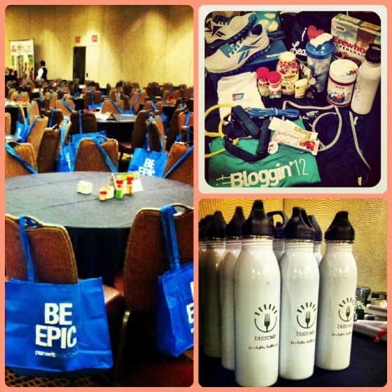 Swag Reebok McCormick Be Epic PureVit BistroMD FitBloggin 2012 Baltimore Maryland MD