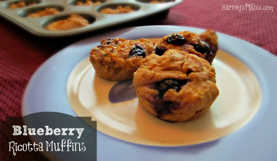 Barr & Table Blueberry Ricotta Whole Wheat Pumpkin Muffins Lean Green Bean