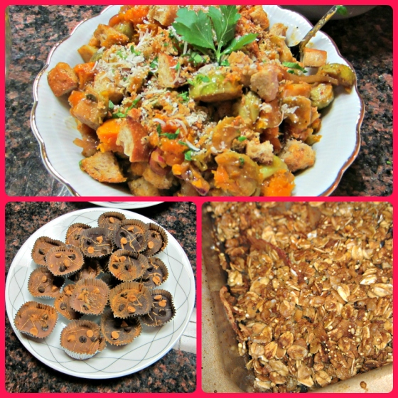 Smitten Kitchen Michael Chiarello Panzanella Salad Homemade Reeses Peanut Butter Cups Jif KIND Snacks Granola Apple Crisp