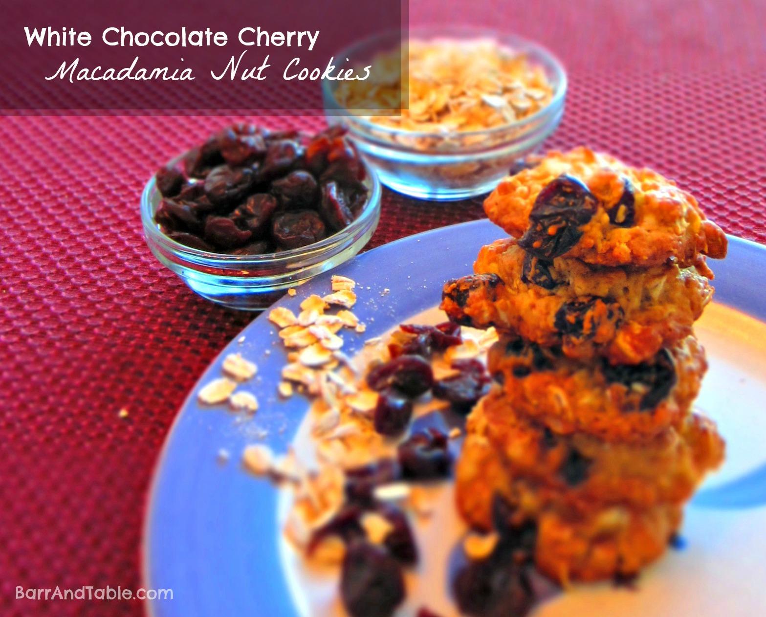 ... Cookies Ghirardelli White Chocolate Chunk Dried Cherry Macadamia Nut