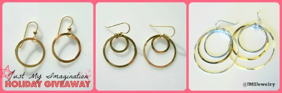 Holiday Christmas Giveaway Just My Imagination Gold Silver Single Double Triple Hoop Earrings