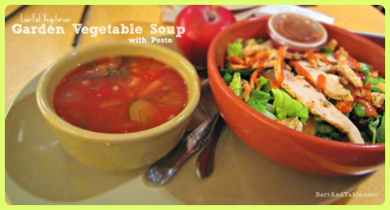 Panera Bread Low Fat Vegetarian Garden Vegetable Soup Pesto Thai Chicken Salad FoodBuzz