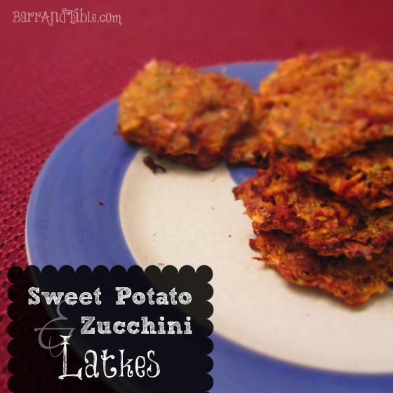 Barr & Table Sweet Potato Zucchini Latkes Cinnamon Nutmeg Hannuka Chanukah