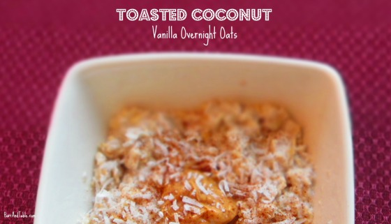 Dannon Oikos Toasted Coconut Vanilla Yogurt Overnight Oats