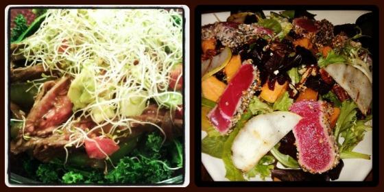 Koopers Tavern Baltimore Maryland MD Skirt Steak Fajita Kale Salad Squash Walnuts Cranberry Tuna Pear Guacamole