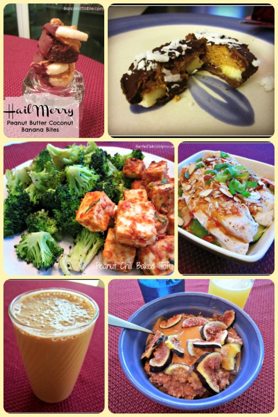 National Peanut Butter Day PB Co Hail Merry Macaroons Banana Chili Tofu Tilapia Oatmeal Coachs Oats Figs Protein Shake