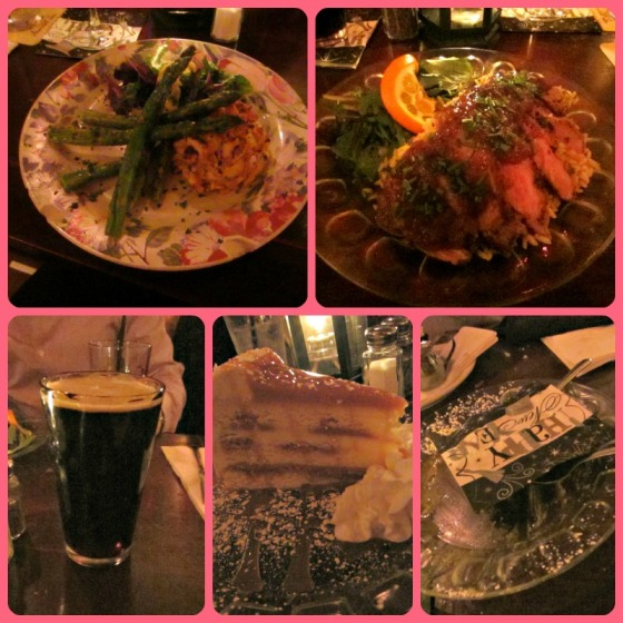 New Years Eve Dinner NYE Annabel Lee Tavern Baltimore Maryland MD DuClaw Sweet Baby Jesus SweetBJ Crabcake Blackened Asparagus Roasted Duck Salted Caramel Crunch Cake