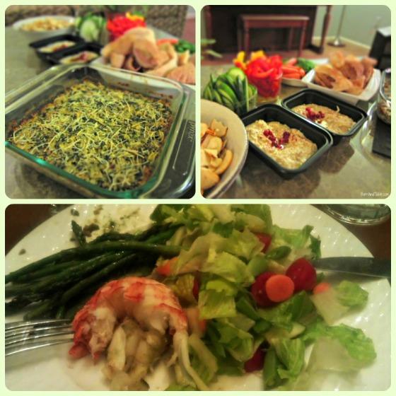 New Years Eve Dinner NYE Skinnytaste Hot Spinach Artichoke Dip Lebanese Taverna Mediterranean Baba Ghanoush Maine Lobster