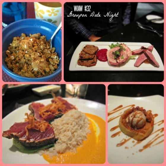What I Ate Wednesday WIAW Peas and Crayons Groupon Date Night Blue Hill Tavern Baltimore Maryland MD Carrots N Cake Sweet Breakfast Scramble Peanut Butter Co