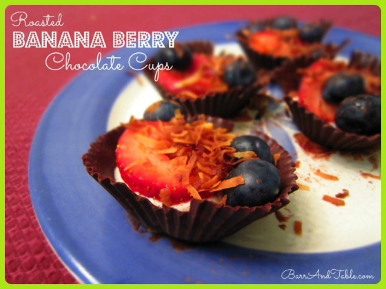 Barr & Table Tone It Up TIU Roasted Banana Berry Dark Chocolate Cups