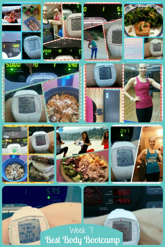Tina Reale Best Body Bootcamp Week 7 Tone It Up TIU Love Your Body Challenge Carrots N Cake Sweet Breakfast Scramble Buddhas Feast KIND Snacks Beach Babe Barr & Table