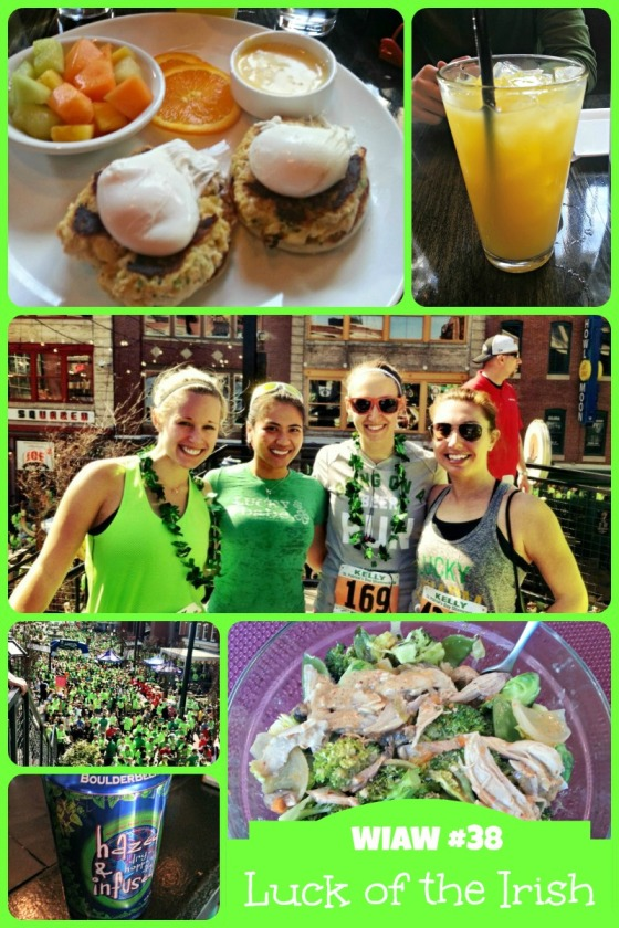 Barr & Table What I Ate Wednesday WIAW Charm City Run Shamrock 5K Race Brunch Eggs Benedict Mimosa Boulder Brewing Company Hazed & Infused