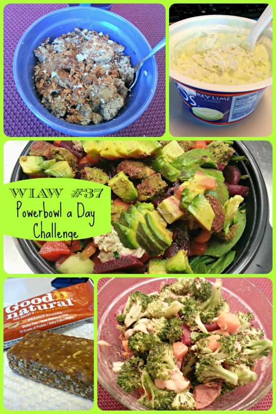 Barr & Table What I Ate Wednesday WIAW Going Green Powercakes Powerbowl a Day Oikos Key Lime Carrots N Cake Slim Down Sweet Breakfast Scramble Cashew Butter Good N Natural