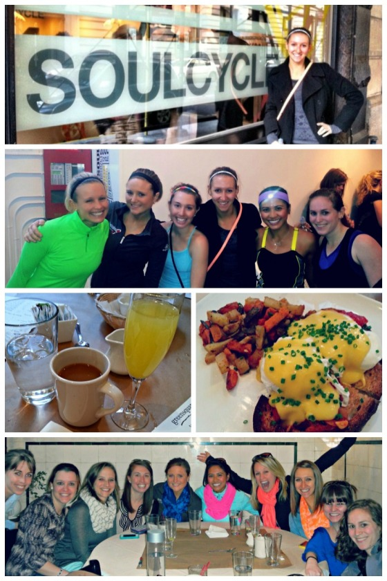 Barr & Table What I Ate Wednesday WIAW Bachelorette Party NYC New York City SoulCycle Greensquare Tavern Brunch