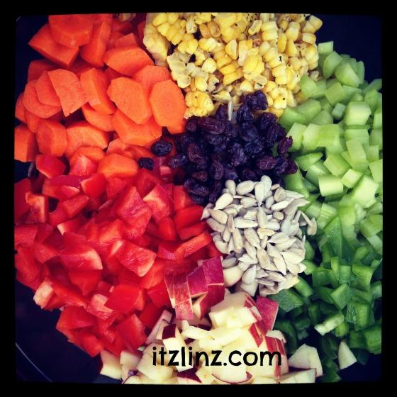 Itz Linz Eat a Rainbow Salad