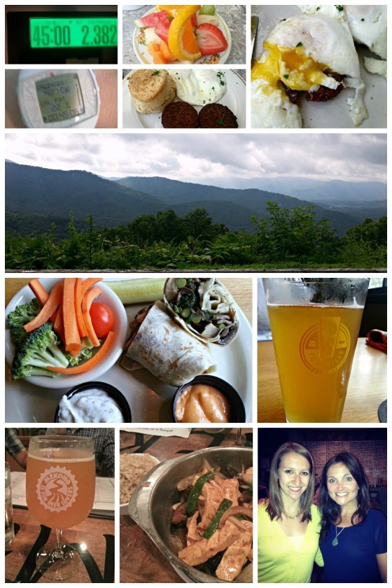 Sunny Point Cafe Asheville North Carolina NC Blue Ridge Parkway Foothills Brewing Winston Salem Mekong Restaurant RVA Richmond Virginia VA Brittany Eating Bird Food