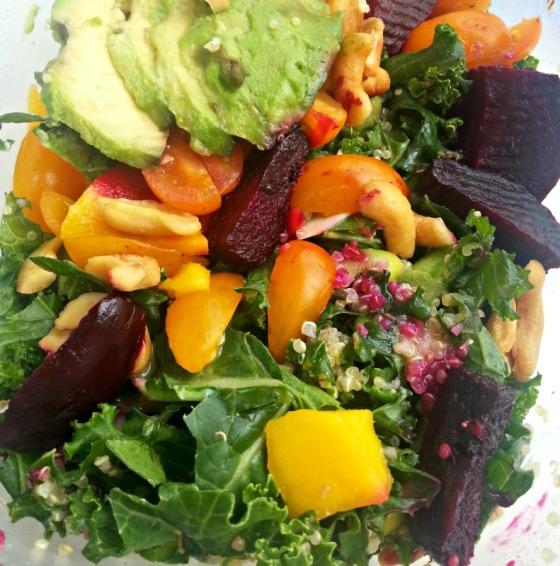 Ambitious Kitchen Kale Edamame Quinoa Salad Mango