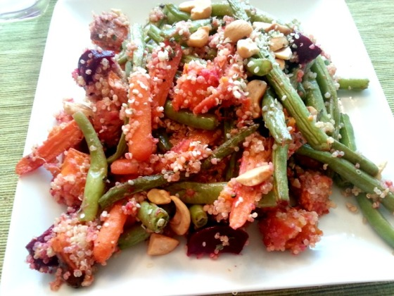 Bev Cooks Roasted Vegetable Quinoa Salad