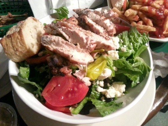 Greek Salad Looneys Pub Canton Baltimore Maryland MD