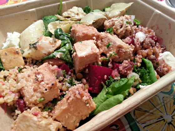 Whole Foods Salad Bar Garlic Tofu