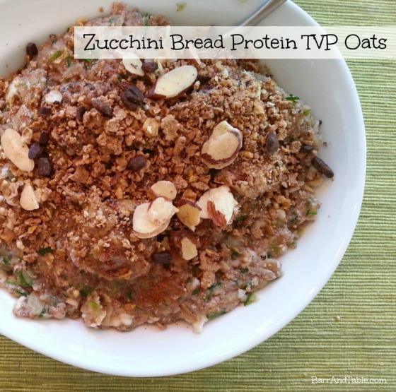 Zucchini Bread Protein TVP Oats