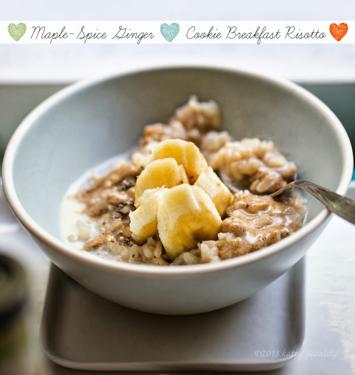 Maple-Spice Ginger Cookie Breakfast Risotto - Lunchbox Bunch
