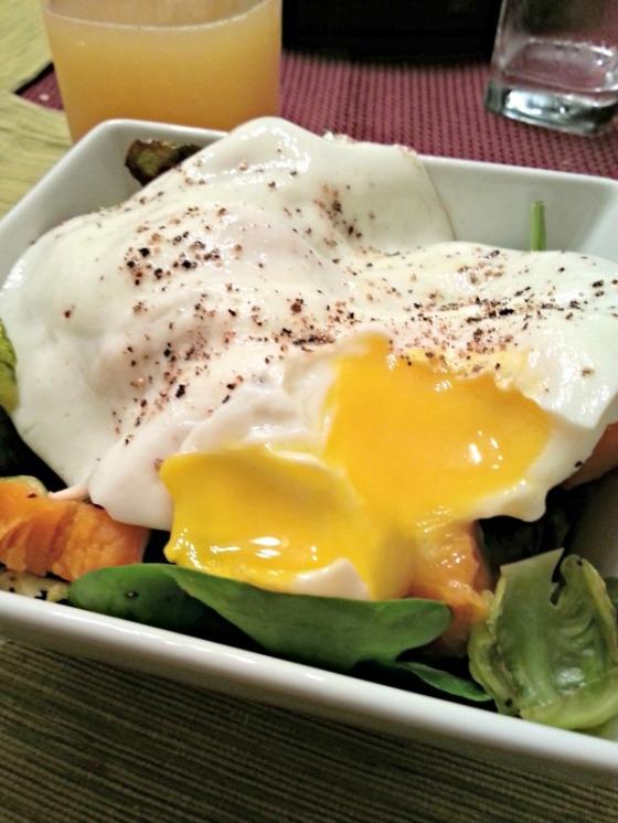 Brussels Sprouts Sweet Potato Egg Yolk