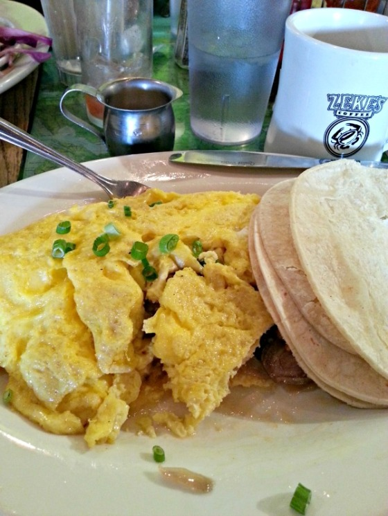 Golden West Cafe Mushroom Omelette Zekes Coffee