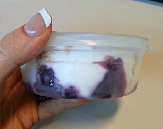 Homemade Blueberry Fruit on the Bottom Greek Yogurt
