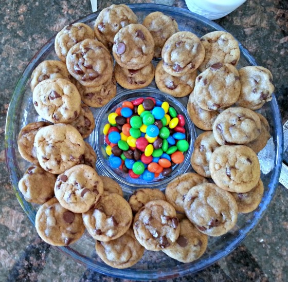 New York Times Chocolate Chip Cookies M&Ms