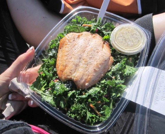 Berkeley Bowl Kale Salad Lemon Salmon