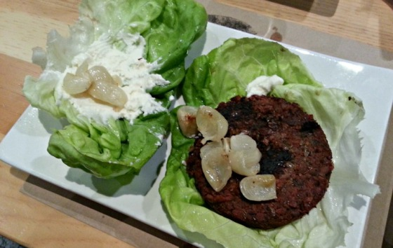 Earth Burger Umami Truffle Ricotta