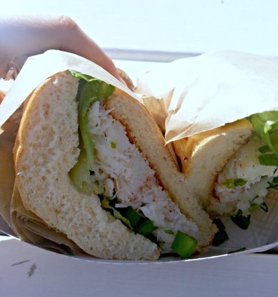 Gotts Roadside Dungeness Crab Acme Sandwich