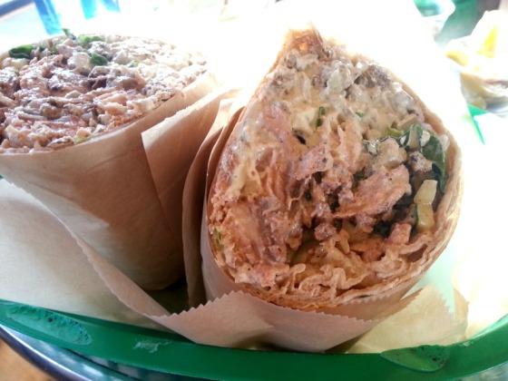 Grilled Salmon Kebab Wrap