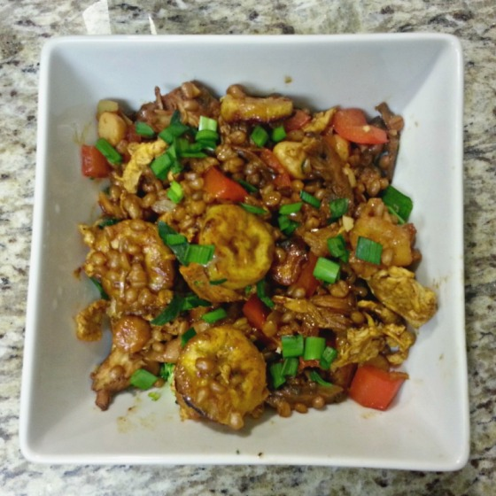 Half Baked Harvest Jerk Chicken Fried Plantains Coconut Quinoa Macadamia Nuts