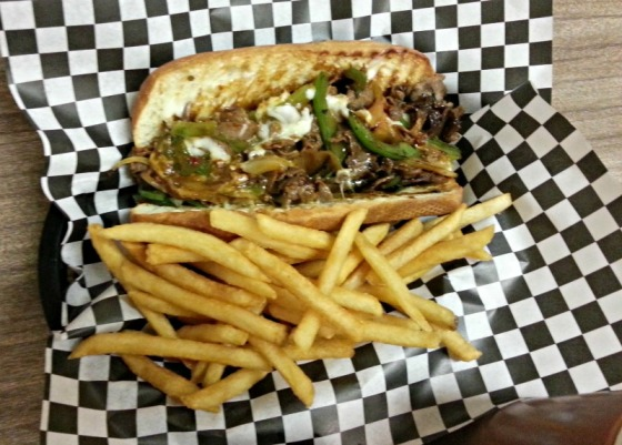 Mongolian Beef Cheesesteak HRD Coffee Shop